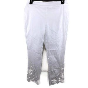 INC Skinny Leg Regular Mid Rise Crop Pants Wht 6P